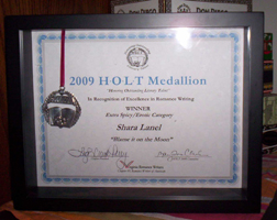 My Holt certificate and medallion